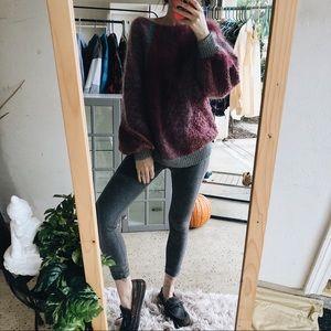 Fuzzy Grunge Trend Sweater Cozy Boho Patches Cozy